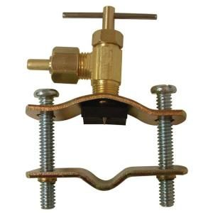 Watts 1/4 in. x 1/4 in. Lead Free Brass Compression x Compression Self Tapping Saddle Valve LF A50