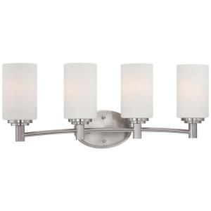 Thomas Lighting Pittman 4 Light Brushed Nickel Wall Vanity 190025217
