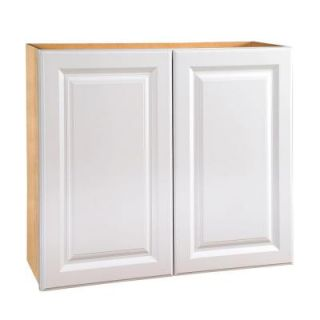 Home Decorators Collection Assembled 24x30x12 in. Wall Double Door Cabinet in Hallmark Arctic White W2430 HAW