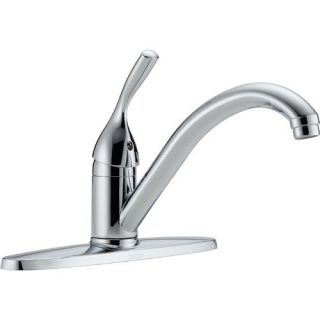 Delta Classic Single Handle Kitchen Faucet with Integrated Supply Tools in Chrome