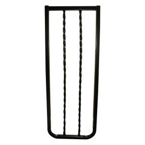 Cardinal Gates 10 1/2 in. Extension for Black Wrought Iron Decor Gate WIX BKP