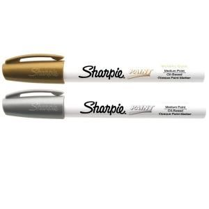 Sharpie Gold and Silver Medium Point Oil Based Paint Marker (2 Pack) 34968PP