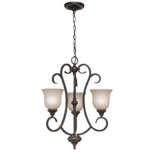 Hampton Bay 3 Light Olde Bronze Ceiling Chandelier 89545