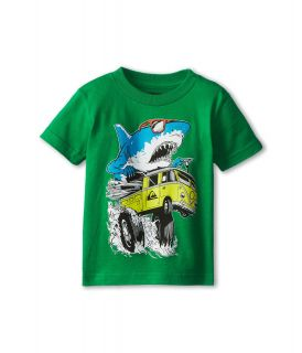 Quiksilver Kids Shark Attack Tee Boys T Shirt (Green)