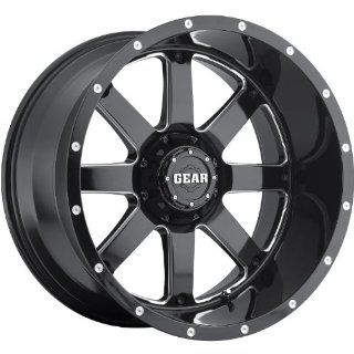 Gear Alloy Big Block 22 Black Wheel / Rim 8x6.5 with a  44mm Offset and a 130.18 Hub Bore. Partnumber 726MB 2228144 Automotive