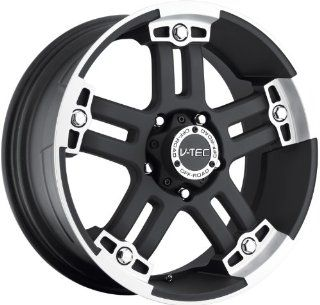 V Tec Warlord 22 Black Wheel / Rim 8x6.5 with a 18mm Offset and a 125.2 Hub Bore. Partnumber 394 22981MF18 Automotive