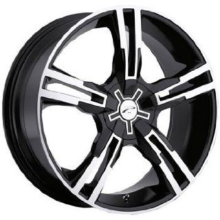 Platinum Saber 18 Black Wheel / Rim 5x120 & 5x4.5 with a 42mm Offset and a 74 Hub Bore. Partnumber 292 8807B Automotive