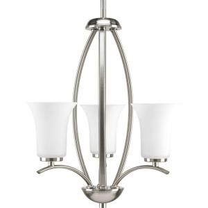 Progress Lighting Joy Collection 3 Light Brushed Nickel Foyer Pendant P3587 09