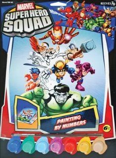 Marvel Paint By Numbers Super Hero Squad 2 Toys & Games