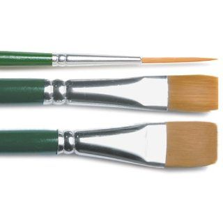 Plaid One Stroke Brush Set, Number 2 Script, Number 12 Flat, 3/4 Inch Flat