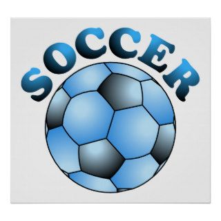 Blue Soccer Ball Print
