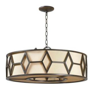 World Imports Decatur Rust Finish 5 Lights Iron Pendant WI350542