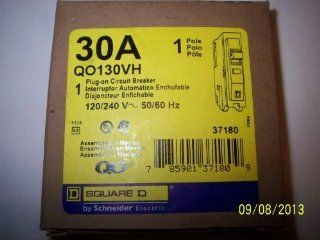 QO130VH SQUARE D 30 AMP, 1 POLE, 22K CIRCUIT BREAKER 1P 30A 120/240V PLUG ON   Thermal Magnetic Circuit Breakers