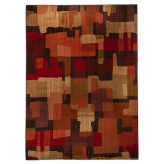 Mohawk Home Blocks Area Rug   Red (5x7)