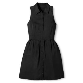 Merona Womens Woven Sleeveless Shirt Dress   Ebony   14