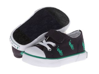 Polo Ralph Lauren Kids Bel Harbour Cap Toe Repeat Boys Shoes (Black)