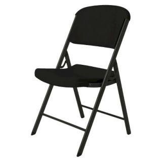 Folding Chair Lifetime Heavy Duty Folding Chair   Black