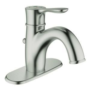 GROHE Parkfield Single Hole Single Handle Bathroom Faucet with Escutcheon in Brushed Nickel 23306EN0