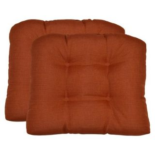Threshold 2 Piece Outdoor Wicker Chair Cushion Set   Orange Textured