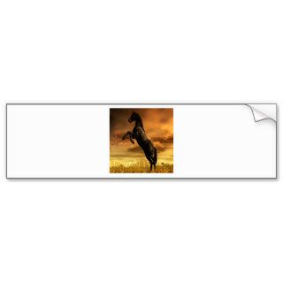 Abstract Animal Black Horse Bumper Sticker