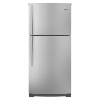 Whirlpool 18.9 cu. ft. Top Freezer Refrigerator in Mono Satina Steel WRT359SFYF