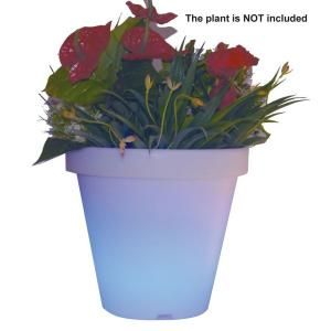 Hampton Bay 12.6 in. Illuminated Multi Color LED Planter DISCONTINUED PBG 3532