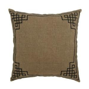 Hampton Bay Bark Embroidery Outdoor Throw Pillow 7675 04003711