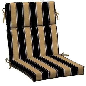 Hampton Bay Twilight Stripe with Roux High Back Outdoor Chair Cushion AC30062X 9D1