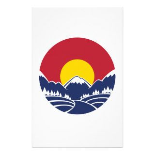 Colorado Rocky Mountain Emblem Stationery Design