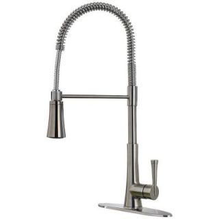 Pfister Zuri Single Handle Pull Down Sprayer Kitchen Faucet in Stainless Steel GT529 MCS