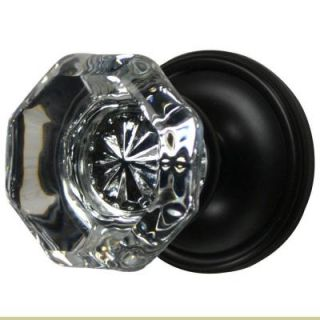 Copper Mountain Hardware Oil Rubbed Bronze Crystal Octagon Privacy Door Knob PDK11241US10_PI