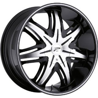 Platinum Cloak 17 Black Wheel / Rim 5x4.5 & 5x112 with a 42mm Offset and a 73 Hub Bore. Partnumber 414 7746B+42 Automotive