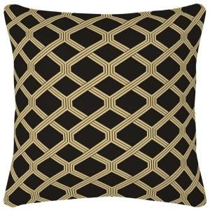 Hampton Bay Black Lattice Outdoor Throw Pillow AD08554B 9D4