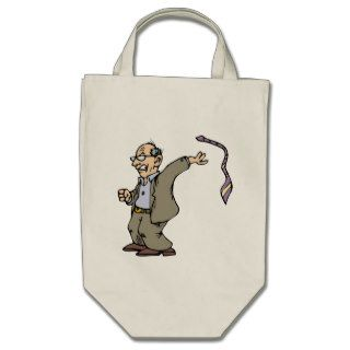 Funny Cartoon Male Old Man Angry Canvas Bags