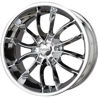 Liquid Metal Wishbone 22 Chrome Wheel / Rim 6x135 with a 25mm Offset and a 87.1 Hub Bore. Partnumber 31 2236C Automotive