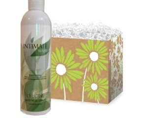 L'eudine 2 piece Gift Set for Women Leudine Intimate Feminine Wash with Cranberry and Chamomile, 6.7 fl oz. & Brown Flower Gift Box