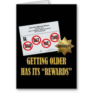 "Senior Citizen ""Rewards"" Greeting Cards"