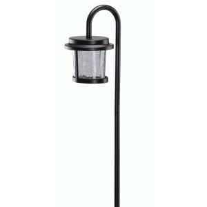 1 Light Low Voltage Bronze LED Path Light with Crackle Glass 29633