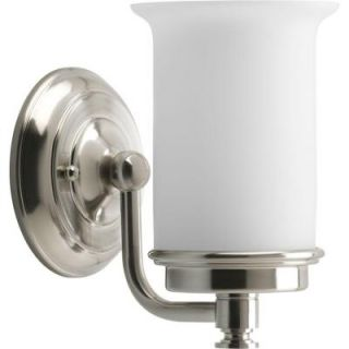 Progress Lighting Currents Collection 1 Light Brushed Nickel Vanity Fixture P3059 09DI