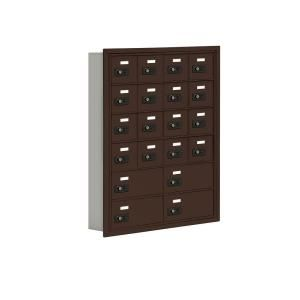 Salsbury Industries 19000 Series 30.5 in. W x 36.5 in. H x 5.75 in. D 16 A/4 B Doors R Mount Resettable Locks Cell Phone Locker in Bronze 19065 20ZRC