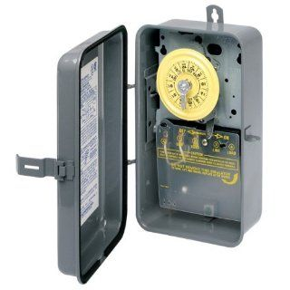 Intermatic T103R Timer, 125V DPST 24Hour Rain Tight Mechanical Time Switch   Wall Timer Switches