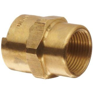 "Dixon Dix Lock QB103 Brass Quick Acting Air Hose Fitting, Socket, 1/2"" Female Coupler, 3/4"" NPT Female Universal Hose Fittings"
