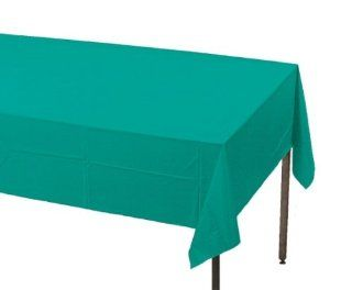 Creative Converting Touch of Color Plastic Banquet Table Cover, Tropical Teal Kitchen & Dining