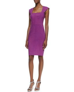 Womens Square Neck Cocktail Sheath Dress   Nicole Miller