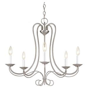 Sea Gull Lighting Traditional 5 Light Brushed Nickel Single Tier Chandelier 3116 962