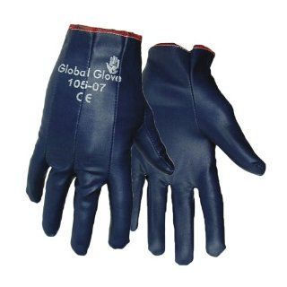 Global Glove 105 Nitrile Impregnated Dipped Glove, Work, Extra Small, Light Blue (Case of 144)
