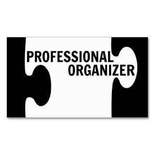 Professional Organizer Puzzle Piece Business Card