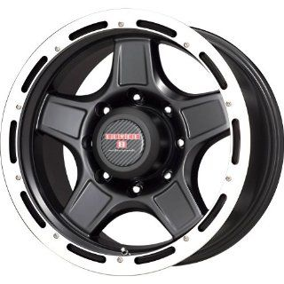 "Level 8 Matte Black Wheel with Machined Lip (16x8.5""/5x114.3mm) Automotive"