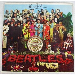 Paul Mccartney The Beatles Sgt Peppers Signed Album Cover W/ Vinyl Psa #o03976   Autographed CD's Paul McCartney Entertainment Collectibles