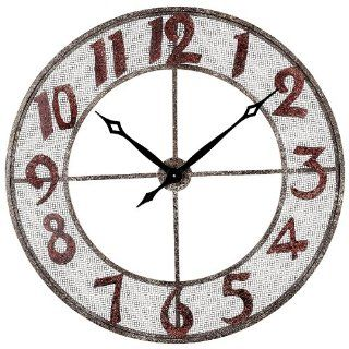 Sterling 128 1003 Metal Outdoor Wall Clock, 31 Inch, Rengo   Large Clocks Wall